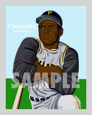 Digital Illustration of one of the All-Time Great Diamond Legends of Baseball and Hall of Famer Roberto Clemente!