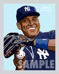 Digital Illustration of one of the All-Time Great Diamond Legends of Baseball Derek Jeter!