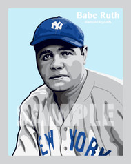Digital Illustration of one of the All-Time Great Diamond Legends of Baseball and Hall of Famer Babe Ruth!