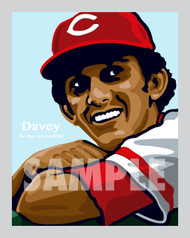 Digital Illustration of Davey Concepcion - one of the All-Time Greats from the Big Red Machine!
