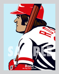 Digital Illustration of Pete Rose - one of the All-Time Greats from the Big Red Machine and baseball's hit king!