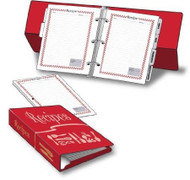 "6"" x 8-1/2"" Easel-Backed Recipe Binder & Pages"