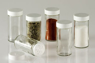 Glass Spice Jars - Set of Six