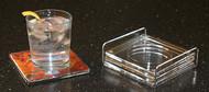 Napkin Coasters, Set of 4 with Tray