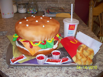 McDonalds Burger and Fries cake