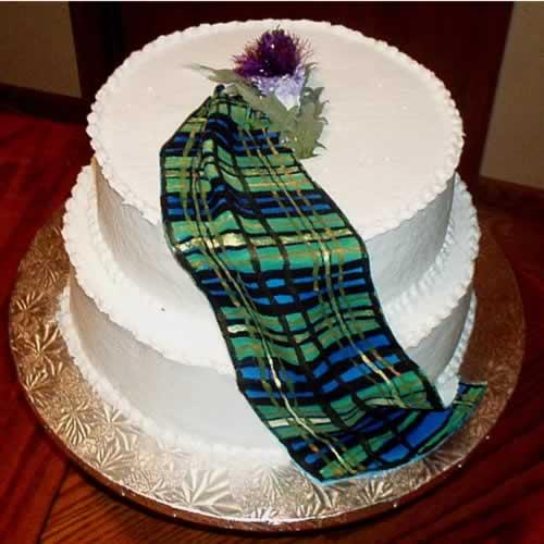 Tartan Birthday Cake