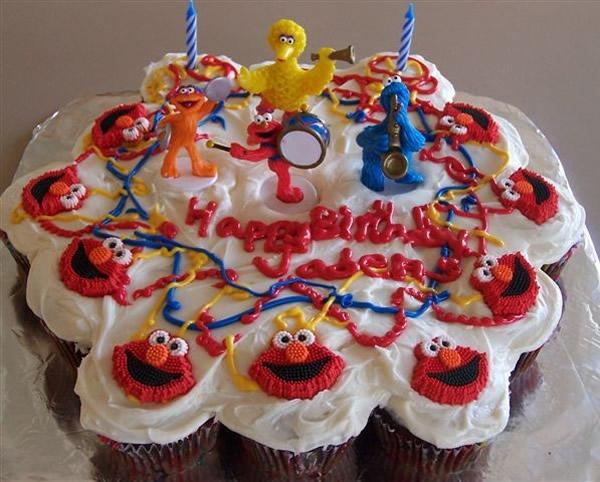 Elmo Cupcakes Cake Thepartyworks