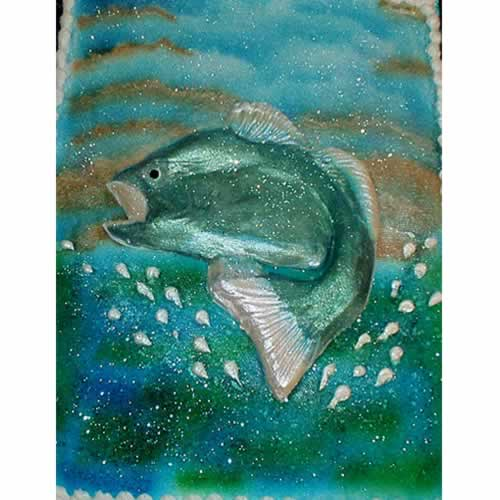 Fish Jumping Out Of Water Painting The