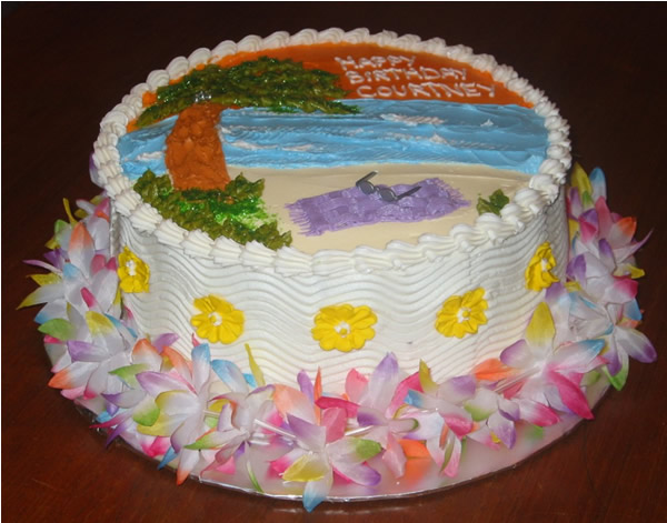 day at beach cake idea