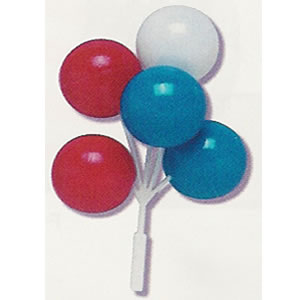 Red-White-Blue BALLOON Cluster - 1 Re-Usable Cake Pic