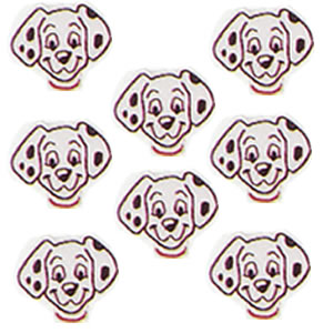 102 Dalmatian Cupcakes<br>9 Re-Usable Rings<br>Cake Decorations & Party