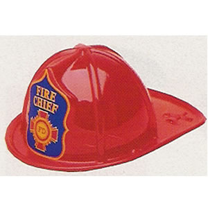 Fire Chief Plastic Hat<br>Child Size<br>Party Favor
