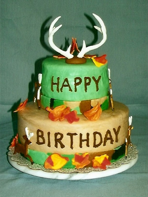 Hunting Cake Front