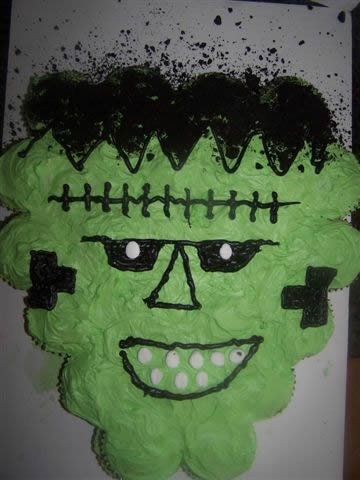 Picture of Frankenstein Cake