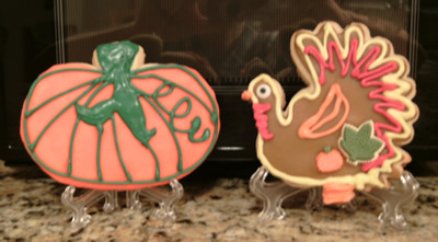 Pumpkin and Turkey Cookies