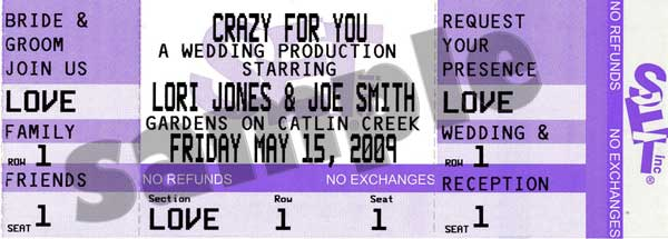 Weddings ThePartyWorks – Invitations That Look Like Concert Tickets