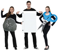Rock, Paper, Scissor Adult Costume