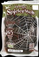 Creepy Black Spider Web (165 Square Feet)
