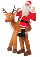 Santa on Reindeer Adult Costume One-Size