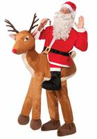 Santa on Reindeer Adult Costume One-Size
