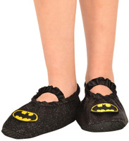 Batgirl - Classic Glitter Slipper Shoes Child One Size (7-11)