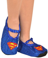 Supergirl - Classic Glitter Slipper Shoes Child One Size (7-11)