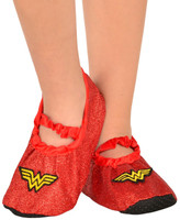 Wonder Woman - Classsic Glitter Slipper Shoes Child One Size (7-11)
