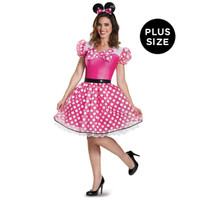 Pink Minnie Mouse Glam Adult Costume Plus