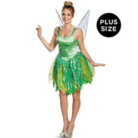 Disney Fairies Tinker Bell Prestige Adult Costume Plus