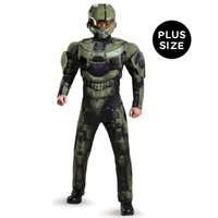 Halo: Master Chief Deluxe Muscle Adult Costume Plus