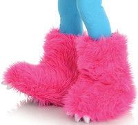 Hot Pink Child Monster Boots