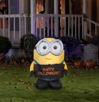 Minion Bob Outdoor 4 Foot Halloween Airblown Decoration