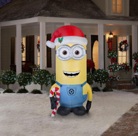 Minions Christmas Kevin 8 Foot Outdoor Airblown