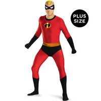 Disney's the Incredibles: Mr. Incredible Bodysuit Adult Costume Plus