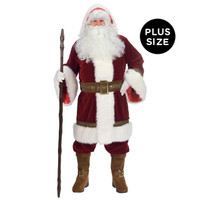 Mens Deluxe Old Time Plus Size Santa Costume