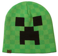 Minecraft Creeper Face Beanie Hat