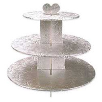 Silver Foil Cupcake Stand