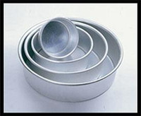 "Round Heavy Gauge Aluminum Pan By Fat Daddio's 3""H X 5"""