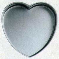 """Heart-Shaped Light Aluminum Pan - 14"""" X 2"""" Deep"""