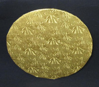 "Round Gold Cake Board 8"" x 8"" x 1/2"" Thick"