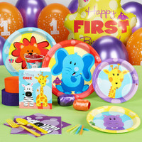 Safari Friends 1st Birthday Standard Party Pack