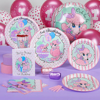 Pink Poodles in Paris 1st Birthday Standard Party Pack