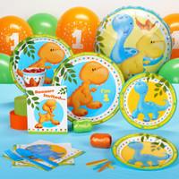 Little Dino 1st Birthday Invitations