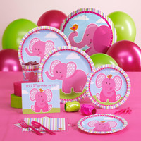 Pink Elephants 1st Birthday Standard Pack
