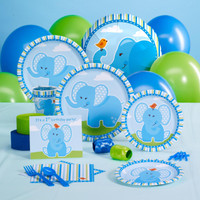 Blue Elephants 1st Birthday Standard Pack