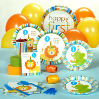 Sweet Safari Blue 1st Birthday Standard Pack