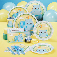 Hippo Blue Baby Shower - Standard Pack