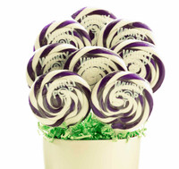 Purple and White Whirly Pop