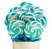 Blue and White Whirly Pops