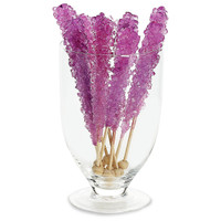 Grape Rock Candy Stick